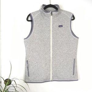 Patagonia Grey Better Sweater Full Zip Vest